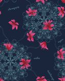Seamless pattern abstract flower ornament. Seamless pattern abstract flower tradition ornament design Royalty Free Stock Photo