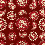 Seamless pattern with abstract flowers Stock Image