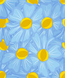 Seamless pattern abstract flowers. Royalty Free Stock Image