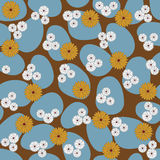 Seamless pattern with abstract flowers Stock Photo