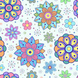 Seamless pattern with abstract flowers Royalty Free Stock Photography