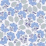 Seamless pattern with abstract flowers Royalty Free Stock Photo