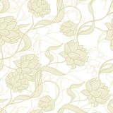 Seamless pattern with abstract flowers Royalty Free Stock Image