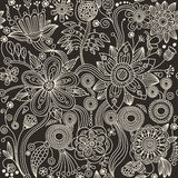 Seamless pattern - abstract flowers