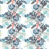Seamless pattern with abstract flowers. Royalty Free Stock Images