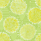Seamless pattern of abstract flowers. Royalty Free Stock Photos