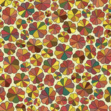 Seamless pattern of abstract flowers. stock image