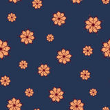 Seamless pattern with abstract flowers Stock Images