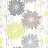 Seamless pattern of abstract flowers. Royalty Free Stock Image
