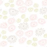 Seamless pattern with abstract flowers. Endless pastel background. Template for design and decoration. Royalty Free Stock Photo