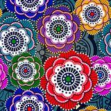Seamless pattern with abstract flowers. EPS 10 Royalty Free Stock Photography