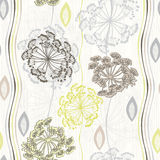 Seamless pattern of abstract flowers. Stock Photo