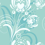 Seamless pattern with abstract flowers. Floral background. For design Stock Photography