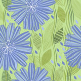 Seamless  pattern with abstract flowers. Hand-drawn floral Stock Images