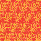 Seamless pattern of abstract flowers.  illustration backgr Royalty Free Stock Photography