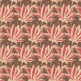 Seamless pattern of abstract flowers.  illustration backgr Royalty Free Stock Image