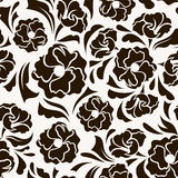 Seamless pattern with abstract flowers and leaves. Stock Photography
