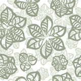 Seamless pattern, abstract flowers Stock Photography