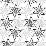 Seamless pattern with abstract flowers Stock Photography