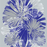 Seamless pattern with abstract flowers, vector illustration. Royalty Free Stock Images