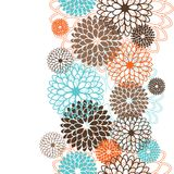 Seamless pattern with abstract flowers. Vector Stock Images