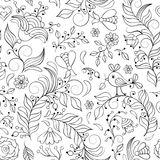 Seamless pattern with abstract flowers Royalty Free Stock Photos