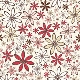 Seamless pattern with abstract flowers. Vector illustration. Stock Images