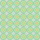 Seamless pattern of abstract flowers stock illustration
