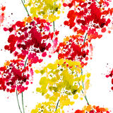 Seamless pattern with abstract flowers. Watercolor painting Royalty Free Stock Images