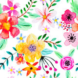 Seamless pattern with abstract flowers. Royalty Free Stock Photography