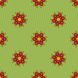Seamless pattern of abstract flowers Royalty Free Stock Photography