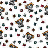 Seamless Pattern Abstract Flowers Stock Image