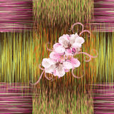 Seamless pattern with abstract flowers in white,pink colors Stock Image