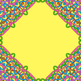 Seamless pattern abstract frame. In ethnic style Royalty Free Stock Images