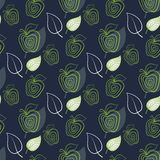 Seamless pattern with abstract fresh apple Royalty Free Stock Photo