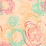 Seamless pattern with abstract funny scribbles Royalty Free Stock Photo
