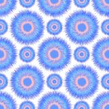 Seamless pattern with abstract furry circle Stock Photography