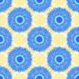 Seamless pattern with abstract furry circle Royalty Free Stock Photography