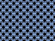 Seamless pattern. An abstract geometric figure in black on a blue background. Vector. Illustration Stock Photography