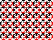 Seamless pattern. Abstract geometric figure of black and red colors. Vector. Illustration Stock Image