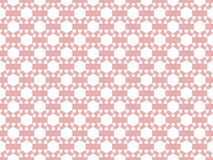 Seamless pattern. An abstract geometric figure of white on a light red background. Vector. Illustration Stock Images