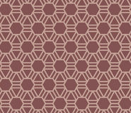 Seamless Pattern Abstract Geometric Ornament In Vintage Eastern Style. Vector Illustration Stock Image