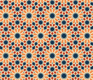 Seamless Pattern Abstract Geometric Ornament In Vintage Eastern Style. Vector Illustration Stock Photos