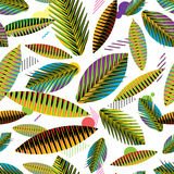 Seamless pattern, abstract geometric tropical leaves Royalty Free Stock Photos