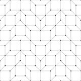Seamless pattern. Abstract geometrical background. Modern stylish texture with repeating small dots, dotted hexagons, squares, polygons. Vector element of stock illustration