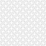 Seamless pattern. Abstract geometrical background. Original linear texture with repeating thin broken lines, polygons, difficult polygonal shapes. Vector stock illustration