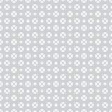 Seamless pattern. Abstract geometrical wrapper background. Regularly repeating classical simple texture with circles and crosses. Vector element of graphical Royalty Free Illustration