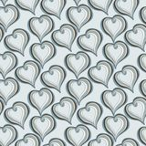 Seamless pattern with  Abstract  grey Hearts Royalty Free Stock Image