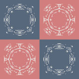 Seamless pattern with abstract hand drawn frames Royalty Free Stock Images