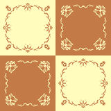 Seamless pattern with abstract hand drawn frames Royalty Free Stock Image